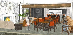Another dining area for the Blue Plate Bistro