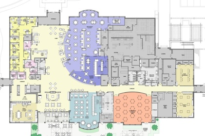 The proposed new layout of Town Center