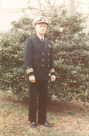 Commander Sage Bassett at the time of his retirement, 1979 (Photo courtesy of Sage Bassett)