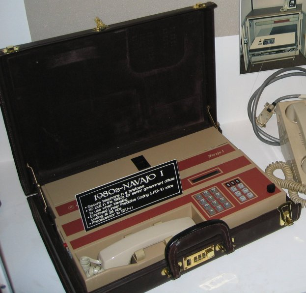 The Navajo I secure telephone at the National Cryptologic Museum, a destination available in this month's Special Trips