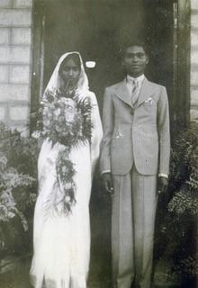 Sadanala and Lily John on their wedding day in 1938