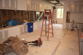 The new mailbox area (previously part of the Lakeside Commons Fitness Center)