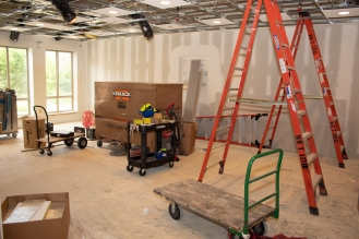 The new classroom (previously part of the Lakeside Commons Fitness Center)