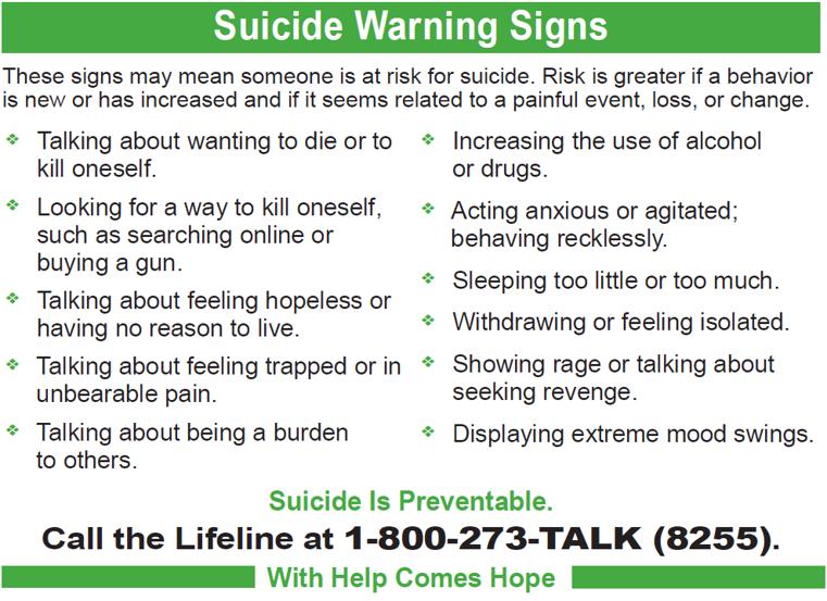 SuicideWarnings
