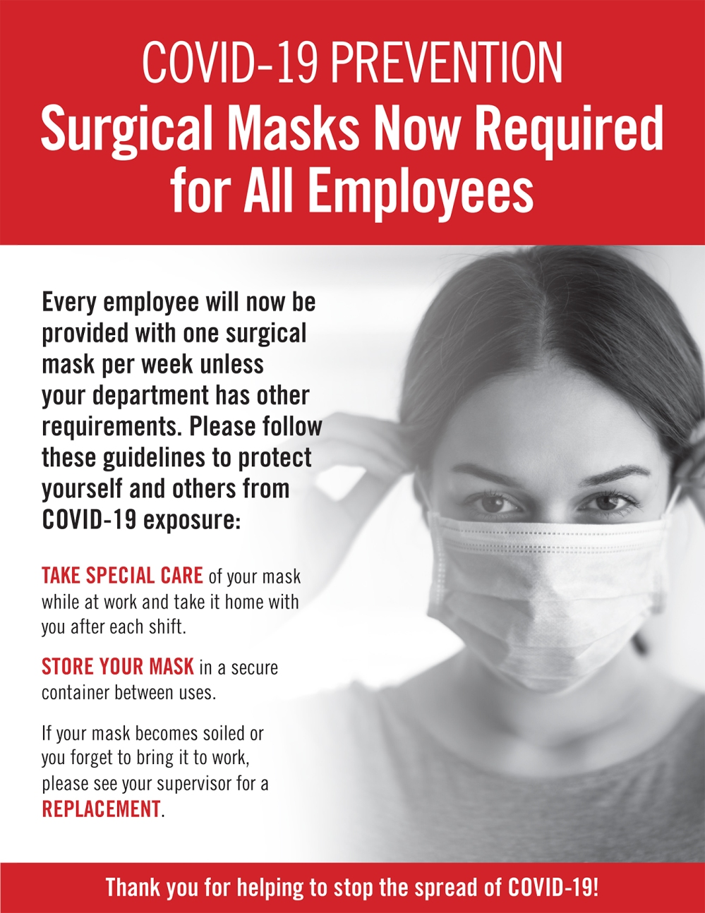 4-10-20 - COVID-19 Surgical Mask Requirement